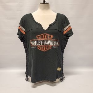 Harley-Davidson® Women's Side Laced Short Sleeve
